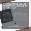 Photographes, veillez à conserver la preuve de vos clichés (CA Paris, 22 septembre 2020)